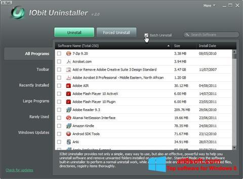স্ক্রিনশট IObit Uninstaller Windows 8