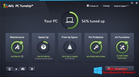 স্ক্রিনশট AVG PC Tuneup Windows 8