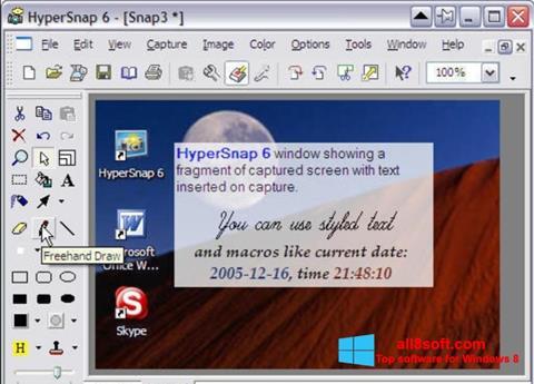 স্ক্রিনশট HyperSnap Windows 8