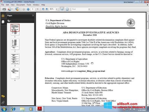 স্ক্রিনশট Adobe Reader Windows 8