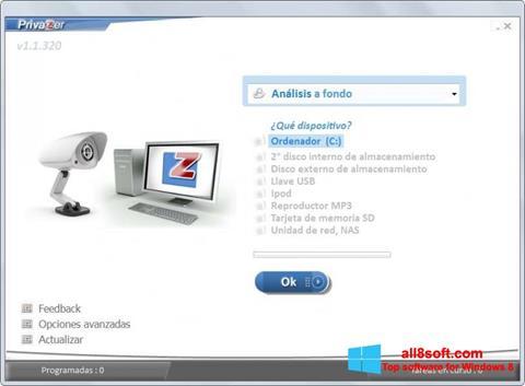 স্ক্রিনশট PrivaZer Windows 8