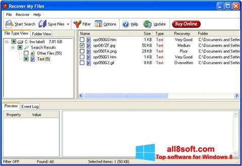 স্ক্রিনশট Recover My Files Windows 8