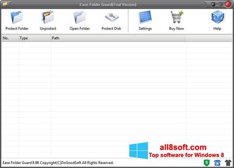 স্ক্রিনশট Folder Guard Windows 8