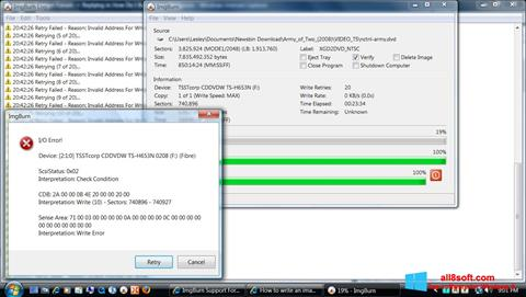 স্ক্রিনশট ImgBurn Windows 8