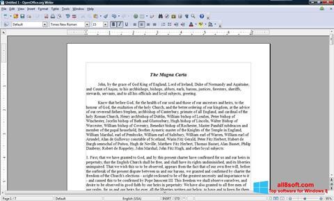স্ক্রিনশট OpenOffice Windows 8