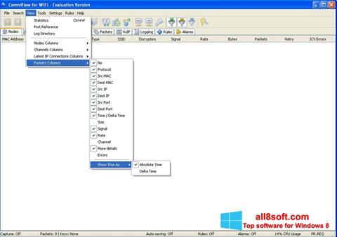 স্ক্রিনশট CommView for WiFi Windows 8
