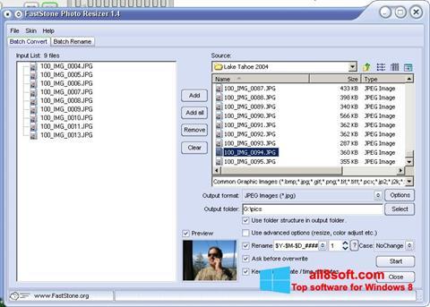 স্ক্রিনশট FastStone Photo Resizer Windows 8