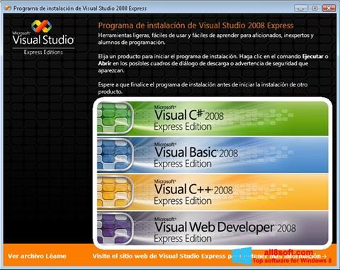 স্ক্রিনশট Microsoft Visual Studio Express Windows 8