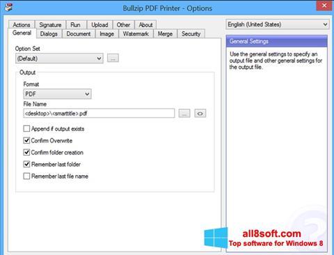 স্ক্রিনশট BullZip PDF Printer Windows 8