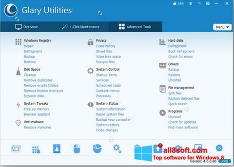 স্ক্রিনশট Glary Utilities Pro Windows 8