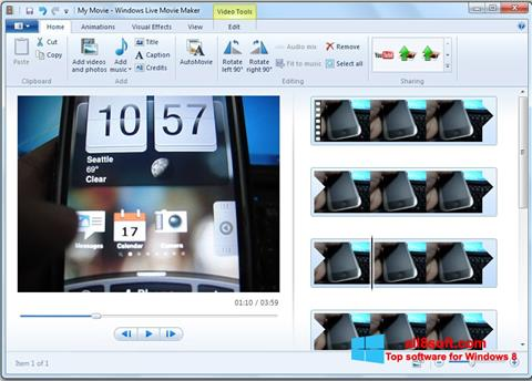 স্ক্রিনশট Windows Live Movie Maker Windows 8