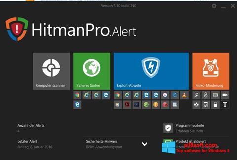 স্ক্রিনশট HitmanPro Windows 8