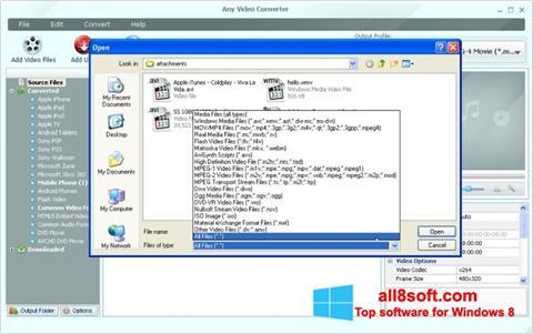 স্ক্রিনশট Any Video Converter Windows 8
