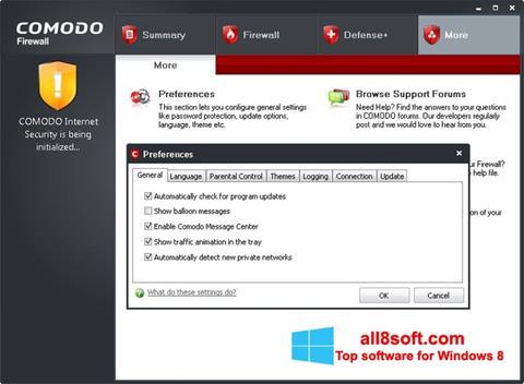 স্ক্রিনশট Comodo Firewall Windows 8