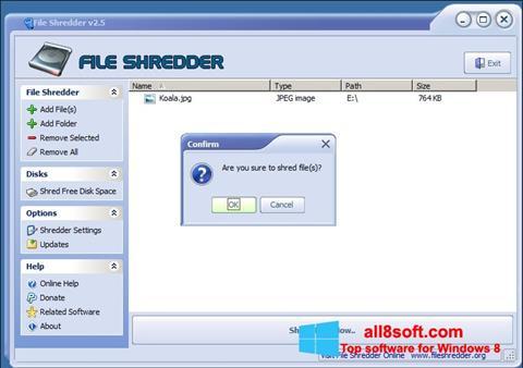 স্ক্রিনশট File Shredder Windows 8