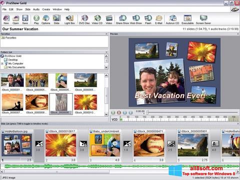 স্ক্রিনশট ProShow Gold Windows 8