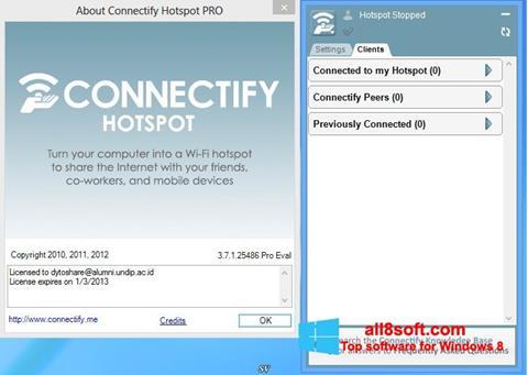 স্ক্রিনশট Connectify Windows 8