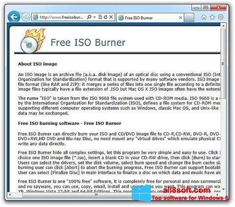 স্ক্রিনশট ISO Burner Windows 8
