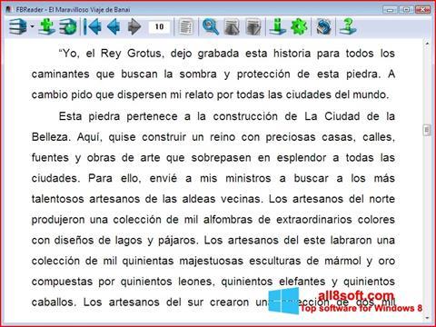 স্ক্রিনশট FBReader Windows 8