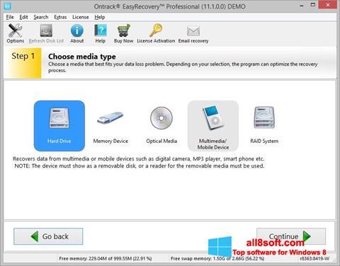 স্ক্রিনশট EasyRecovery Professional Windows 8