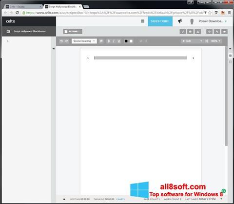 স্ক্রিনশট Celtx Windows 8