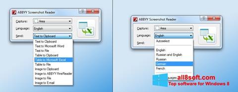 স্ক্রিনশট ABBYY Screenshot Reader Windows 8