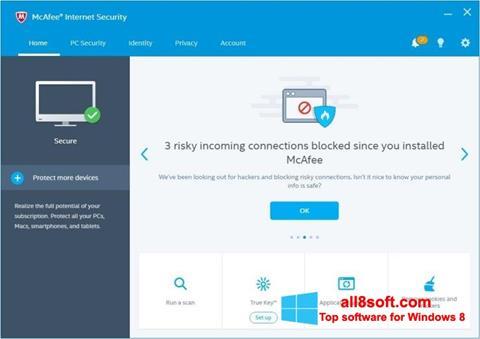 স্ক্রিনশট McAfee Windows 8