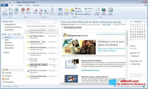 স্ক্রিনশট Windows Live Mail Windows 8