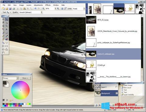 স্ক্রিনশট Paint.NET Windows 8