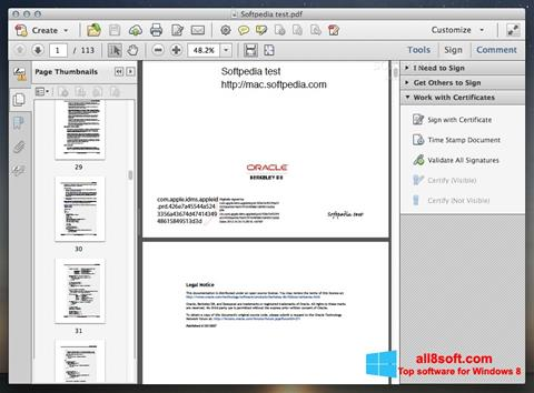 স্ক্রিনশট Adobe Acrobat Windows 8