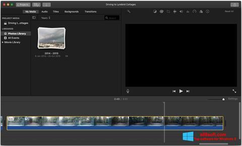 স্ক্রিনশট iMovie Windows 8