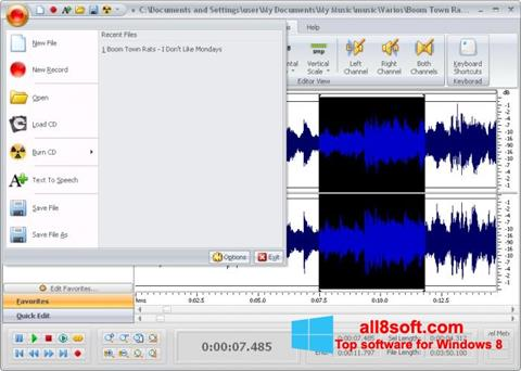 স্ক্রিনশট Free Audio Editor Windows 8