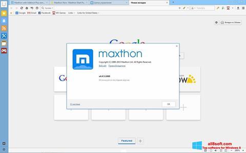 স্ক্রিনশট Maxthon Windows 8