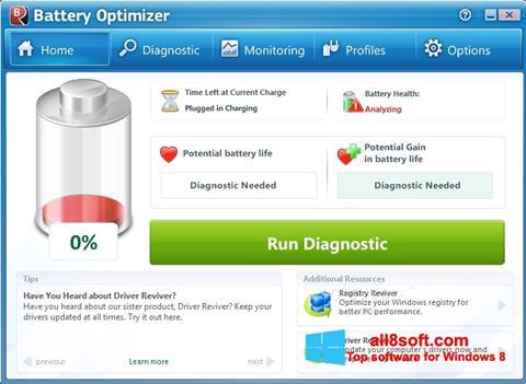 স্ক্রিনশট Battery Optimizer Windows 8