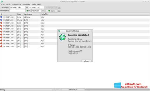 স্ক্রিনশট Angry IP Scanner Windows 8
