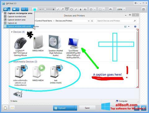 স্ক্রিনশট QIP Shot Windows 8