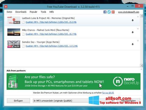 স্ক্রিনশট Free YouTube Download Windows 8