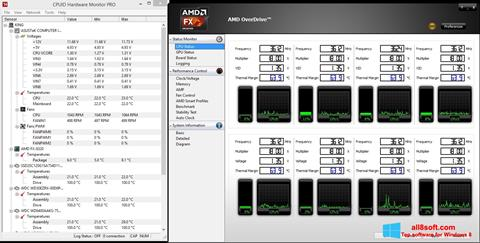 স্ক্রিনশট AMD Overdrive Windows 8