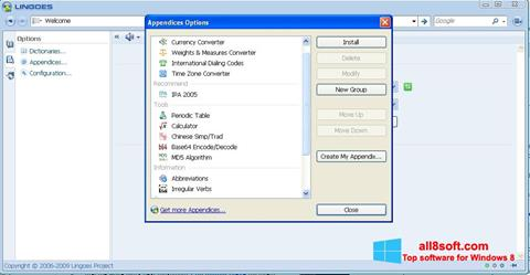 স্ক্রিনশট Lingoes Windows 8