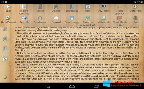 স্ক্রিনশট Cool Reader Windows 8