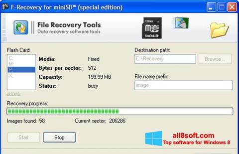 স্ক্রিনশট F-Recovery SD Windows 8