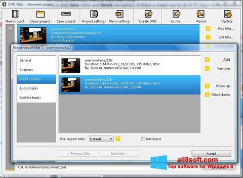 স্ক্রিনশট DVD Flick Windows 8