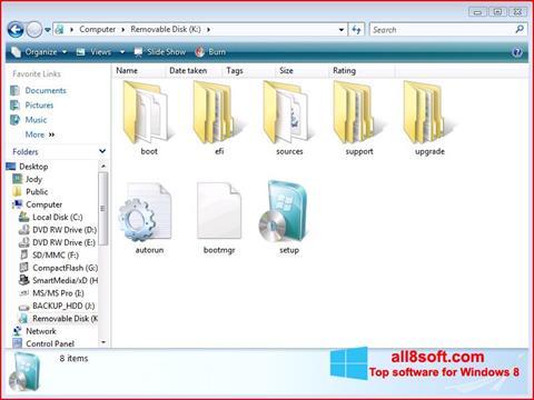 স্ক্রিনশট Windows 7 USB DVD Download Tool Windows 8