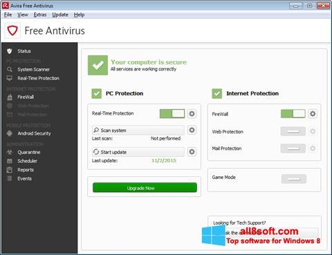 স্ক্রিনশট Avira Free Antivirus Windows 8