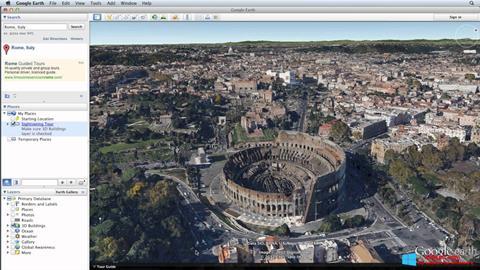 স্ক্রিনশট Google Earth Pro Windows 8