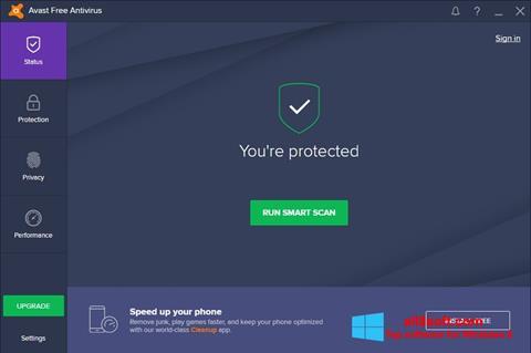 স্ক্রিনশট Avast Free Antivirus Windows 8