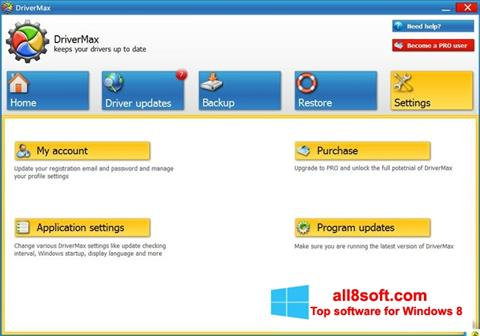 স্ক্রিনশট DriverMax Windows 8