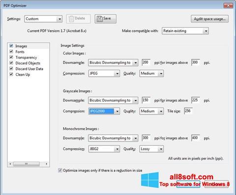 স্ক্রিনশট Adobe Acrobat Pro DC Windows 8