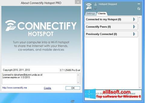 স্ক্রিনশট Connectify Hotspot Windows 8