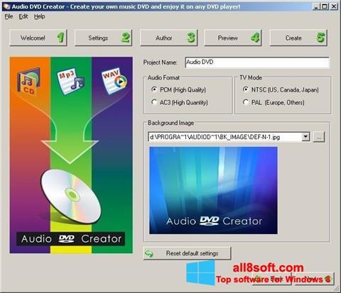 স্ক্রিনশট Audio DVD Creator Windows 8